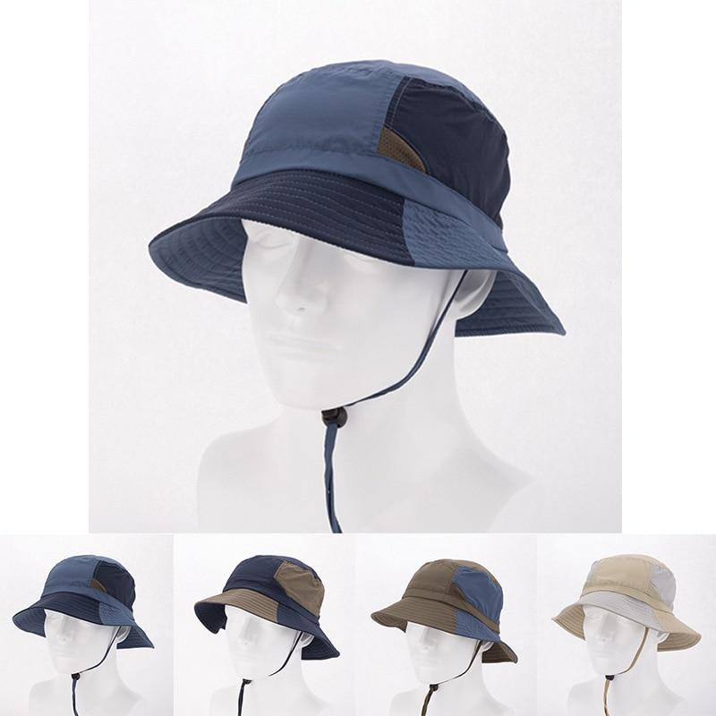 Men Women Fishing Hat Bucket Fisherman Hat Cotton Outdoor Summer Sun UV  Protection Cap Anti Mosquito Hat hiking Cap AC-in Fishing Caps from Sports  ... 9f7094ac5b52