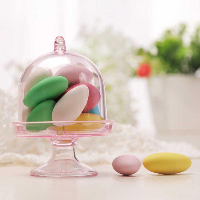 2 個のキャンディーボックスバッグチョコレートギフトプラスチッククリエイティブ誕生日ウェディングパーティーの装飾クラフト DIY の好意ベビーシャワー