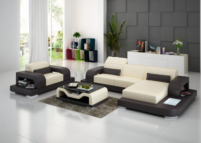 mixing furniture styles living room framed art fashion design mixed color italy genuine leather sofa g8006e