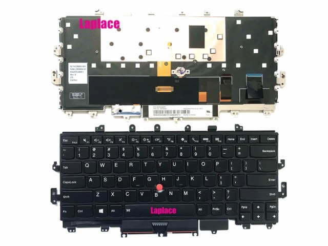 45dda214a40 Laplace New Genuine US keyboard for Lenovo ThinkPad X1 Yoga 20FQ,20FR with  backlit FRU:00PA042