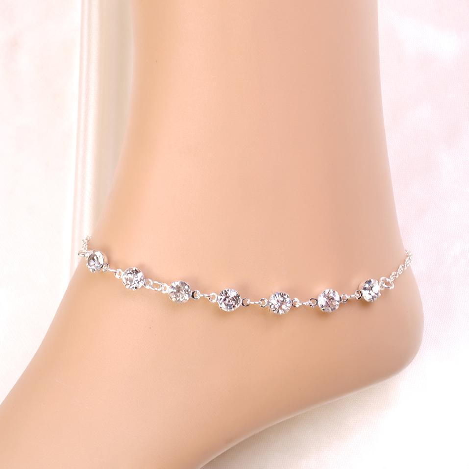 pin barefoot ladies sandals and bride anklets chains ankle bohemian gold jewelled silver anklet