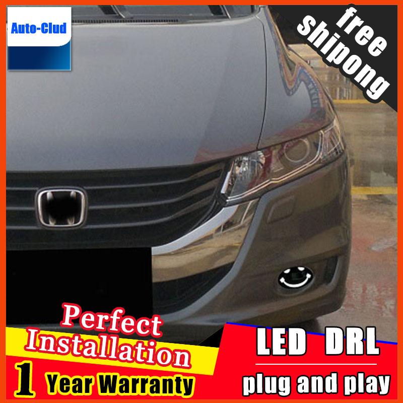 Автомобиль-стайлинг из светодиодов Противотуманные фары для Honda Mobilio 2014-2016 светодиодная противотуманная фара с линзой и LED дневные ходовые светодиодные светодиодные ДХО 2