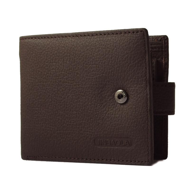 Leather Wallet Men Wallet With Hasp Pu Male Bifold Wallets Card Holder Bag Short Pouch -- BID045 PR49