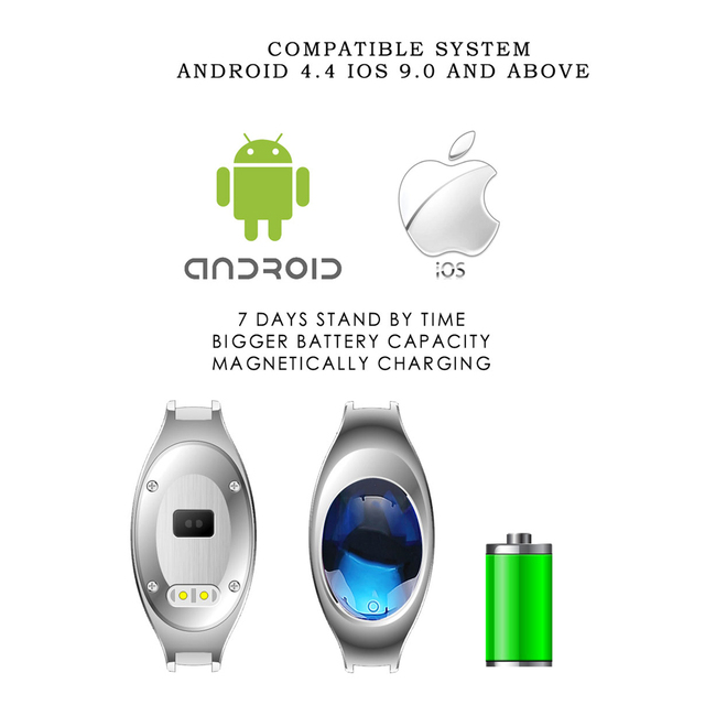GIMTO Luxury Fashion Smart Braccialetto Delle Donne Orologio In Oro Rosa Narrow Band Bluetooth Dispositivo Intelligente per IOS Android & Phone Impermeabile