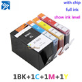 SET of 4 INK CARTRIDGE for hp 920 920XL for HP OfficeJet 6000 6500 6500 6500A /7000/7500/7500A Printer with chip full ink hp920
