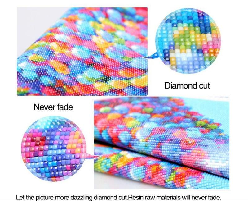 DIY 3D Diamant Malerei ROT HUT DAME Stickerei Kreuzstich Neuheit - Kunst, Handwerk und Nähen - Foto 4