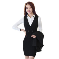 2017 New Autumn And Winter Professional Women S Overalls Dress Suits Uniforms Slim Thin Long Sleeves