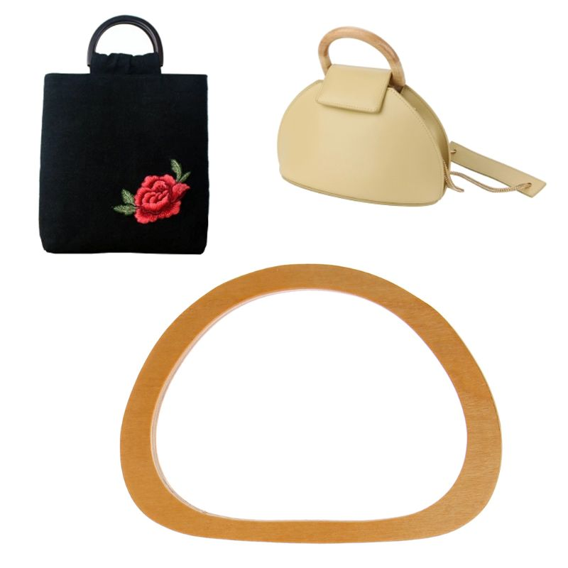 2018 Hot New 1 Pc Wooden Bag Handle Replacement DIY Handbag Purse Frame Bag Accessories High Quality