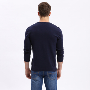 Vomint Men Solid Sweater Regular O-neck Casual Long Sleeve Knitted Male Autumn New Class Design F6PI6637