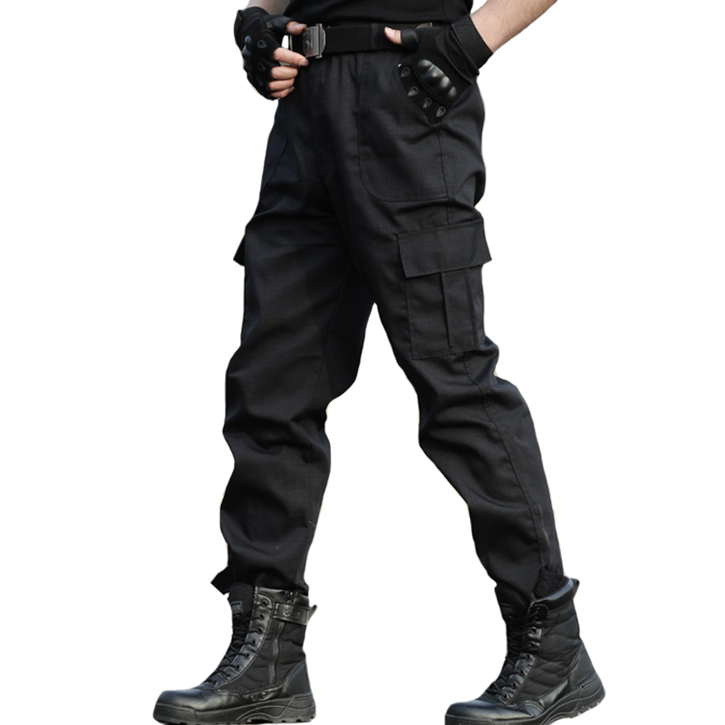 Tactical Trousers Cargo Pants Work Clothes Men Military Style Homme Special Forces SWAT Army Combat Trouser Black Pants Thin