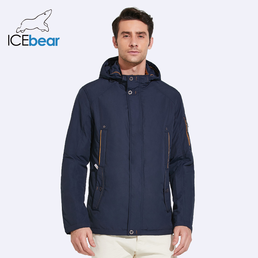 ICEbear 2018 New Large Size high quality winter jacket Men Fashion Jackets Parka Spring Casual Brand Spring Warm Coat 17MC853D 2018 brand new spring