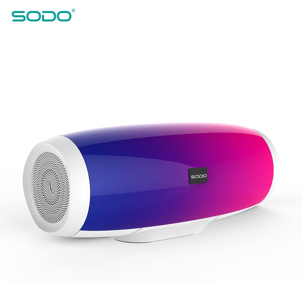 20 pièces SODO L1 lumière spectacle 3D son sans fil Bluetooth haut-parleur 10 W système FM Radio musique Subwoofer colonne haut-parleurs Bluetooth 4.2