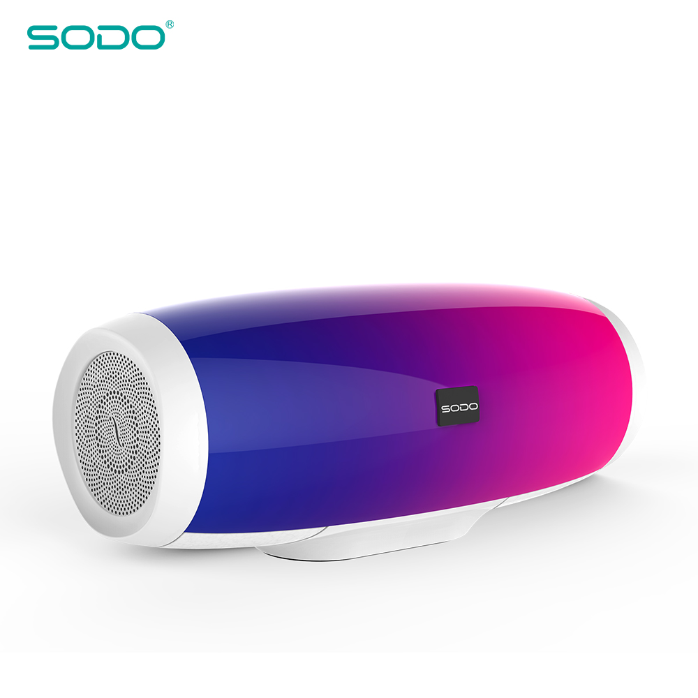 20pcs SODO L1 Light Show 3D Sound Wireless Bluetooth Speaker 10W system FM Radio Music Subwoofer