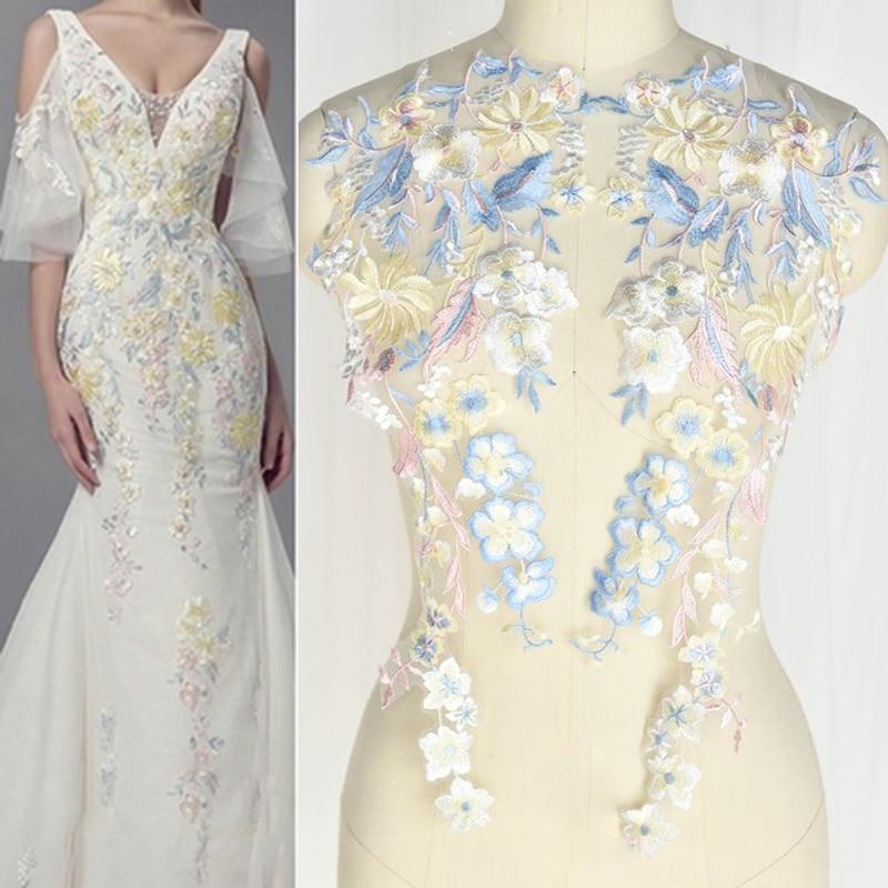 2Pcs/Pair DIY Handmade Lace Applique 3D Flower Patch Motif Costume Wedding Clothes Accessories Lace Fabric Scrapbooking HB52|Lace| - AliExpress
