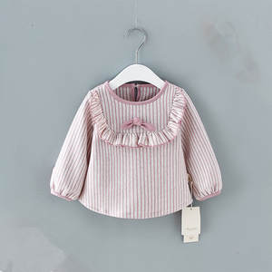 Baby Girls Shirt Long Sleeve Striped Shirts for Girls Tops Cotton Children Clothes 0-2Y