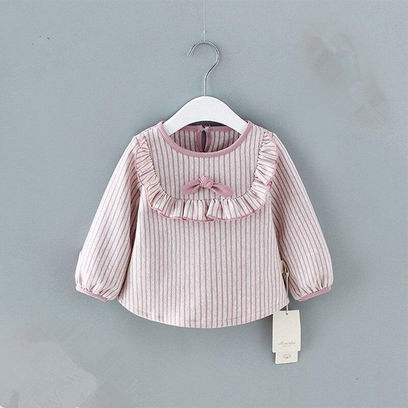 Baby Mädchen Langarm-shirt Striped Shirts Für Mädchen Tops Baumwolle Kinder Kleidung 0-2y Elegant Im Geruch