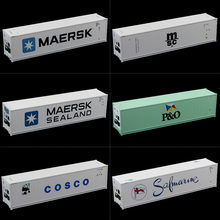 HO Scale 40ft Hi-Cube Refrigerater Shipping Container Freight Cars C8722 Railway Modeling(China)
