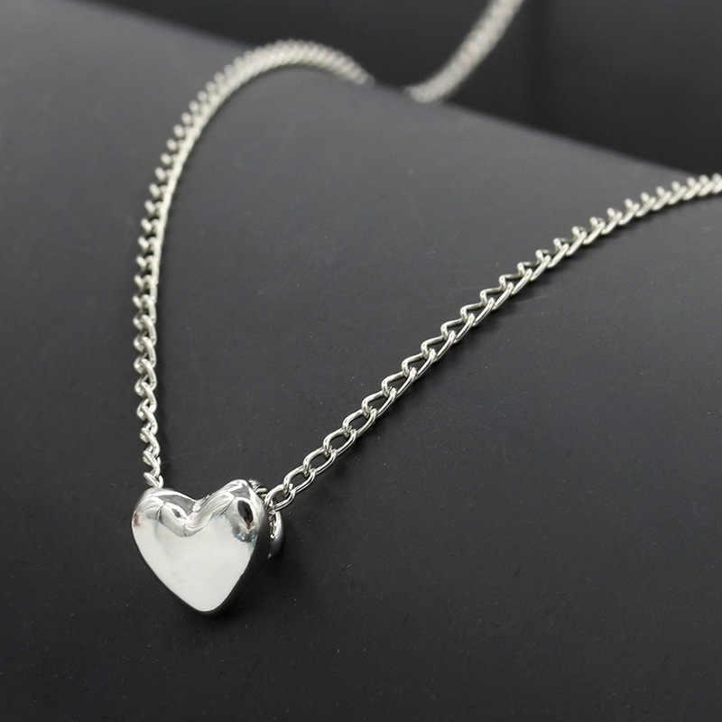 חדש לב נשים של שרשרת פשוט מתכת סגסוגת עצם הבריח שרשרת תליון שרשרת אנטי חמצון סגסוגת תכשיטים לנשים מתנה
