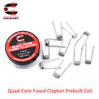 10pcs/lot Coilology Quad-core Fused Clapton Coils for atomizer tank vaporizer RDTA RDA RTA vape wire