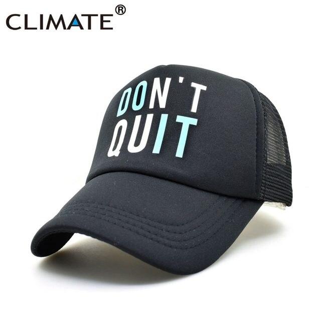 92875be43ed CLIMATE Men Women Summer Mesh Trucker Caps GYM Fitness Fans Black Cool Mesh  Cap Do It Don t Quit Bodybuilding Muscle Caps Hat