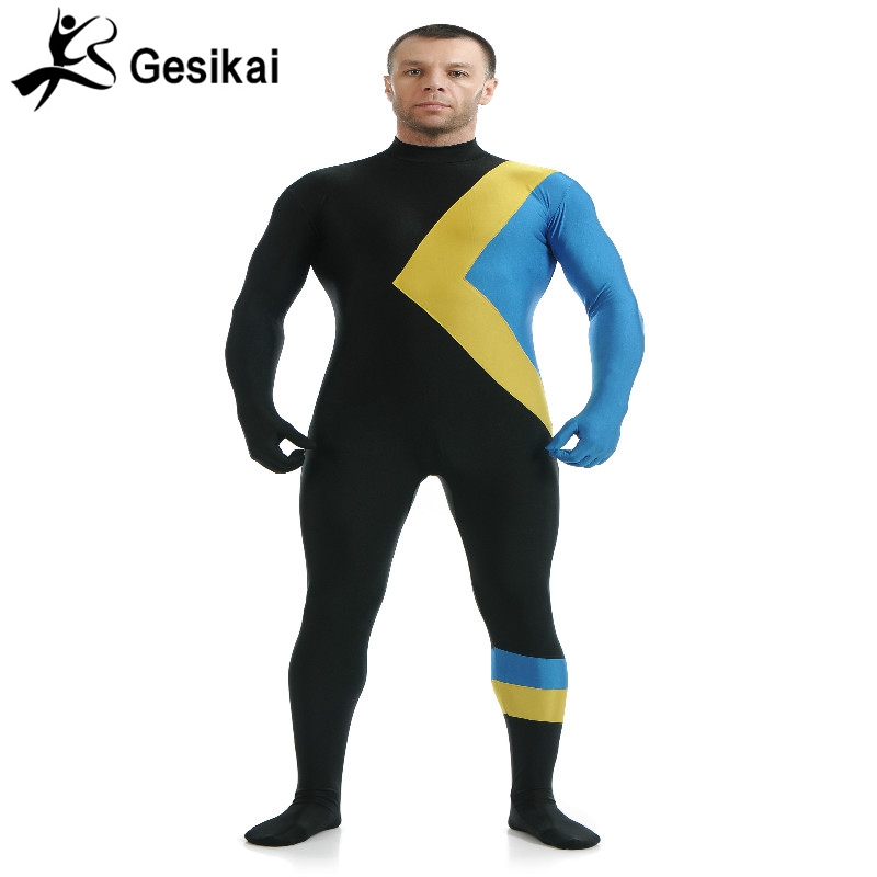 24 Hrs Shipping Out Mixed Color Superhero Jumpsuits Spandex Zentai Suit Mens Superhero Cosplay Costumes