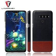 Lamorniea For LG V40 V30 V50 V20 ThinQ Case PU Leather Back Hard Leather Cover For LG G3 G4 G5 G6 G7 K8 2018 X POWER 2 все цены
