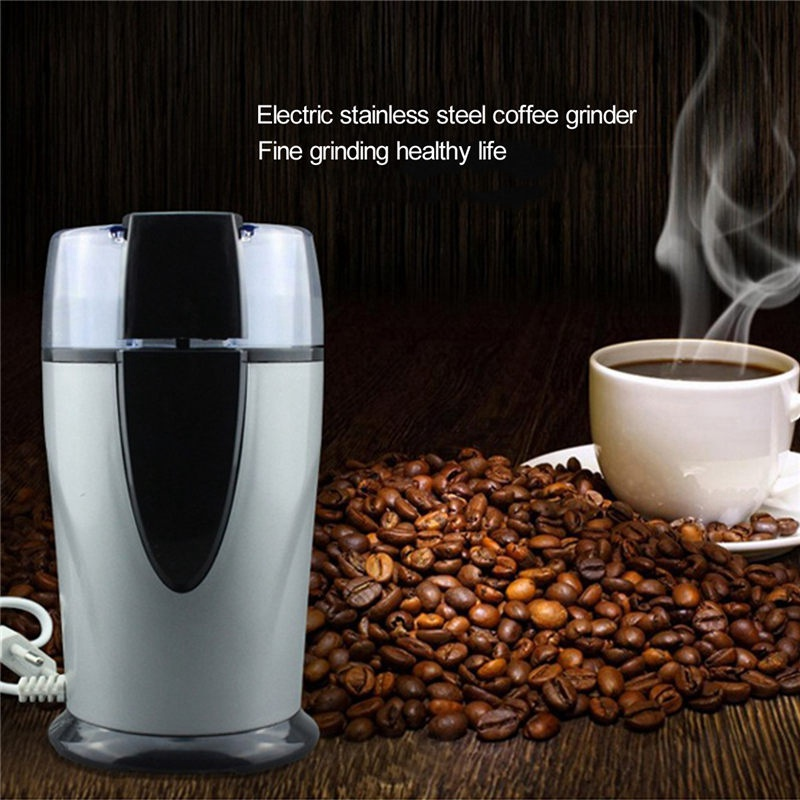 High Quality 130W 70g Electric Coffee Spice Grinder Maker Beans Herbs Nuts Mill Stainless Steel Kitchen Grinding Tool