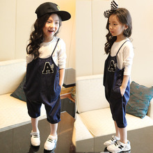 Children Jeans Pants Trousers Kids New Small Baby Boys Girls A Denim Overalls Blue