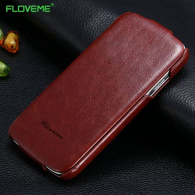 FLOVEME For iPhone 7 6 6s Plus 5S SE Case Certical Flip Leather Case For Apple iPhone 6 6s 7 5 5S SE Magnetic Full Cover Pouch