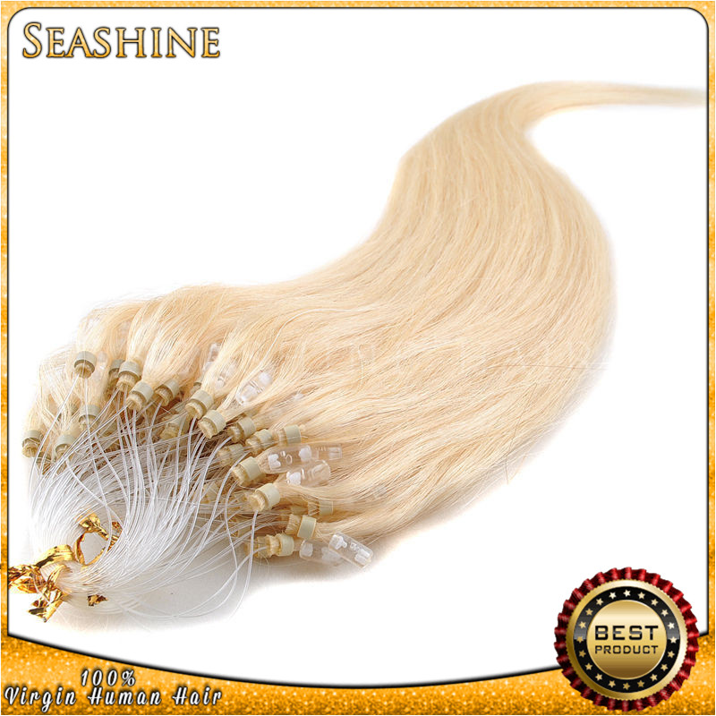 #613 100% Brazilian micro ring loop hair extensions 11 colors optional 1.0 gram per strand 300 strands free shipping