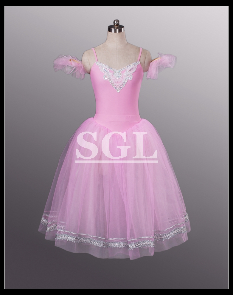 Free Shipping Adult Pink Long Dress For Sale Romantic ...
