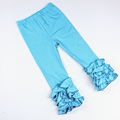 Girls Icing Ruffle Leggings,Icings Persnickety toddler ruffle pants,aqua pink Triple ruffle leggings capris
