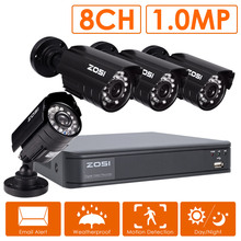 ZOSI 8CH CCTV System 8 Channel 720P DVR 4PCS 1200TVL IR Home Security Camera System Surveillance Kits