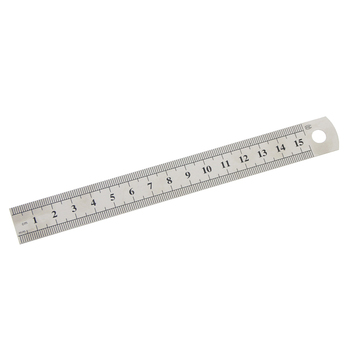 1 Pc 15cm 6 Inch Stainless Steel Metal Straight Ruler Precision Double Sided Learning Office Stationery Drafting Supplies headset icon white png