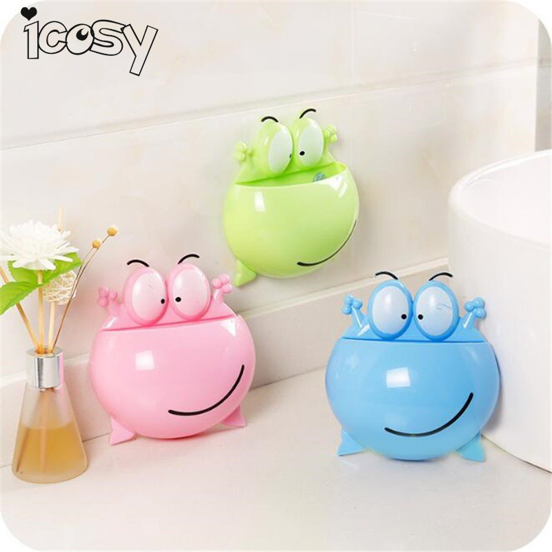 Wall Sucker Animal Toothbrush Holder Bathroom Accessories Suction Rack Tableware Storage Case Container Kitchen Organizer A18D15 image