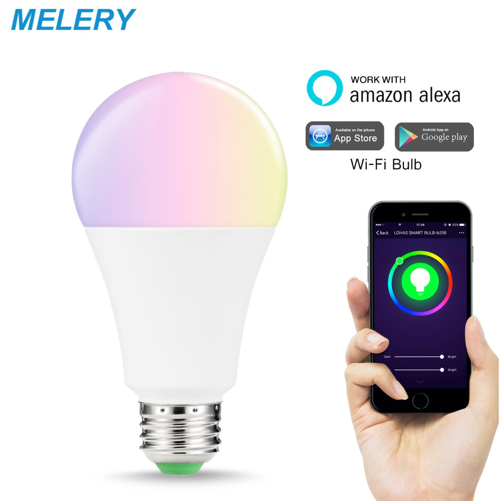 WiFi Smart LED Light Bulb E26 Color Changing RGB Multicolor Lighting 100W-150W Equivalent Homekit work with Alexa,Google HomeWiFi Smart LED Light Bulb E26 Color Changing RGB Multicolor Lighting 100W-150W Equivalent Homekit work with Alexa,Google Home
