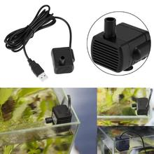 Waterproof Ultra-quiet Submersible Water Pump DC 5V USB Aquarium Fish Tank Fountain Pond Water Pump Gadgets