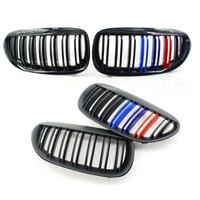 1 Pair/Pack E63 Front Grill ABS Plastic Hood Grille For BMW 6 Series E63 Front Gloss/Matte Black M color Double Line