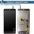 """High Quality 5"""" lcd For highscreen Hercules LCD Screen Display with Touch screen Digitizer Assembly"""