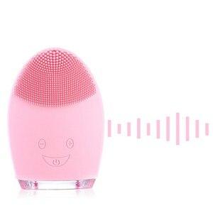Image 4 - 미니 전기 얼굴 청소 마사지 브러시 세탁기 방수 실리콘 얼굴 스킨 케어 클렌저