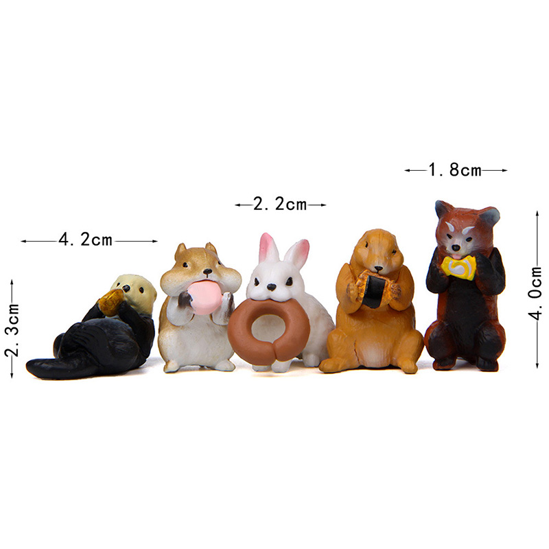 Artificial Forest Animal Eating Model action Figures Miniature Figurine home Garden Dollhouse Decoration DIY Accessory toy gift in Action Toy Figures from Toys Hobbies