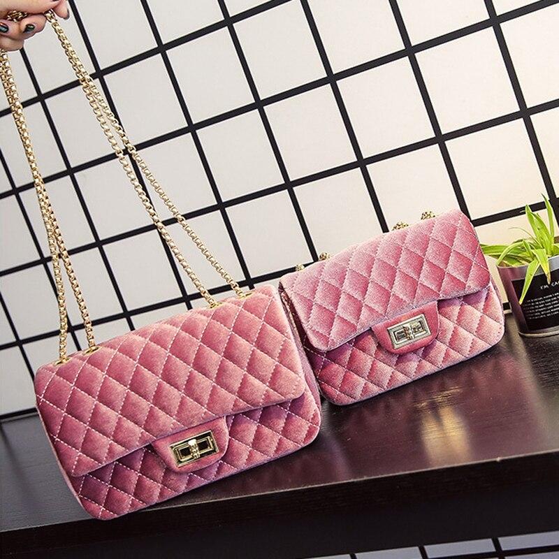 BigSmall Velour Crossbodybag Women Bag Luxury Women Handbags Purse Designer Brand Ladies Chain Velvet Shoulder Messenger Bags785