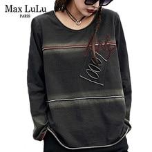 Max LuLu Frühling 2019 Luxus Koreanische Punk Stil Kleidung Damen Tops Tees Frauen Frauen Kawaii T Shirts Vintage Casual Frau Gothic t shirt