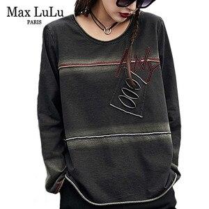 Image 1 - Max LuLu/Весенняя Роскошная Одежда в Корейском стиле панк, женские топы, футболки, женские футболки Kawaii, винтажные повседневные женские готические футболки, 2019