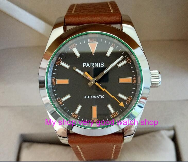 Free shipping 40mm Parnis Sapphire Glass Men's watches Japanese Automatic Movement Watch High quality 2017 new fashion 278 old antique doctor who high quality bronze fob watch free shipping retro penndat pocket watch