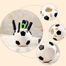 Newest Creative Makeup Brush Holder Pen Pencil Tidy Stationery Desk Football Container все цены