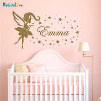New Design Beauty Girl Decor Personalised Girl Room Baby Room Decal House Decoration Custom Name Wall Sticker Wallpaper B945
