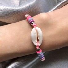 Модные ювелирные изделия браслет из ракушки регулируемая ракушка