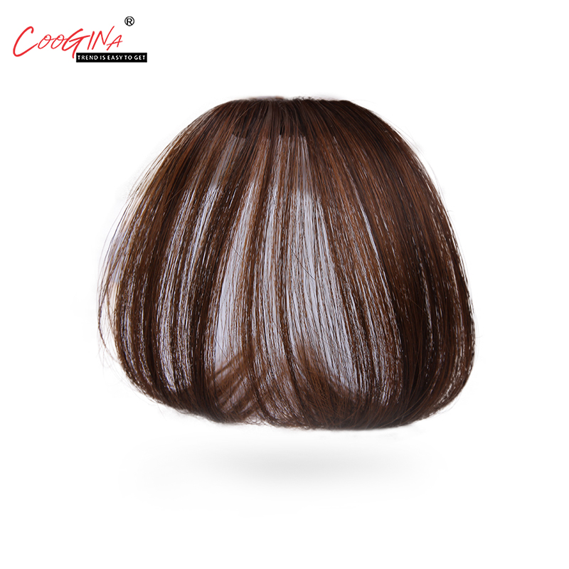 Coogina 2018 New Fashion Air bangs Fashionable Fake Bangs Ultra-thin Air Bangs Simulation Mini Bangs