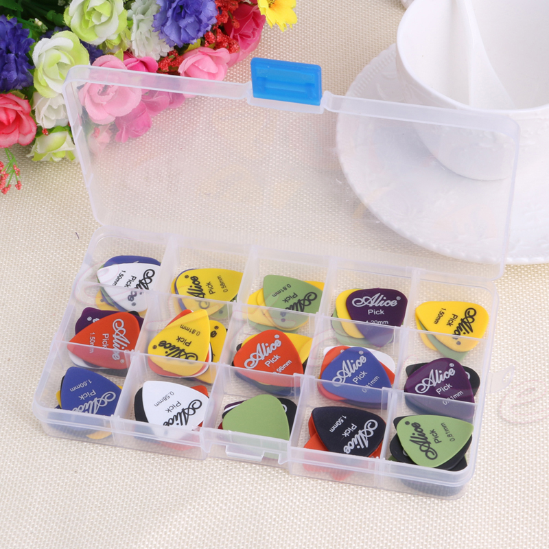 100Pcs/Set Electric Guitar Pic Acoustic Music Pick Plectrum Assorted Thickness 100pcs acoustic electric guitar picks parts acoustic celluloid plectrum multi 0 46 0 71mm classical guitar pick